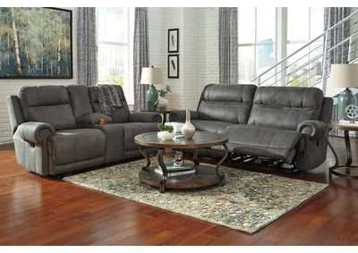 Image for Austere Gray 2 Seat Reclining Power Sofa & Loveseat