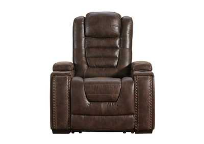 Game Zone Power Recliner w/Adjustable Headrest