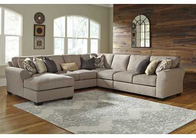 Image for Pantomine Driftwood 5 Piece LAF Chaise Sectional