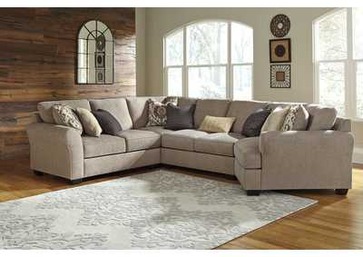 Image for Pantomine Driftwood 4 Piece RAF Cuddler Sectional
