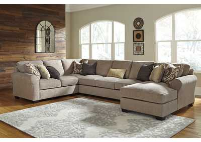Pantomine Driftwood Left Facing Loveseat w/Sofa and Right Facing Corner Chaise,Benchcraft