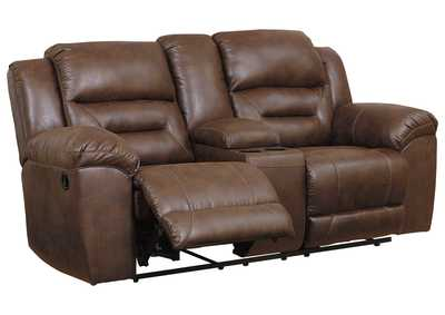 Image for Stoneland Brown Reclining Loveseat with Console