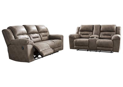 Image for Stoneland Fossil Reclining Sofa and Loveseat