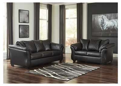 Image for Bertrillo Black Sofa & Loveseat