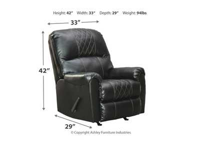 Betrillo Black Recliner,Signature Design By Ashley