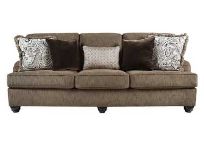 Braemar Brown Sofa w/5 Pillows