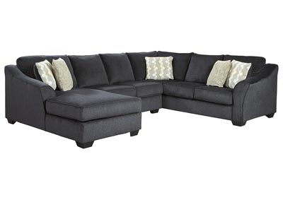 Eltmann Slate 3-Piece Sectional with Chaise,Signature Design By Ashley