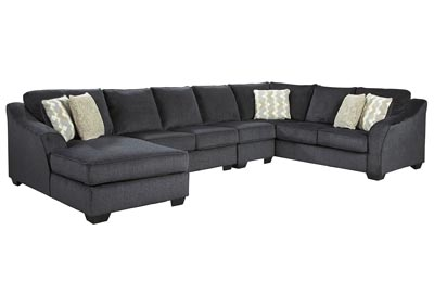 Eltmann Slate 4-Piece Sectional with Chaise