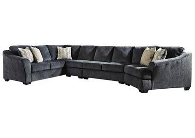 Eltmann Slate 4-Piece Sectional with Cuddler