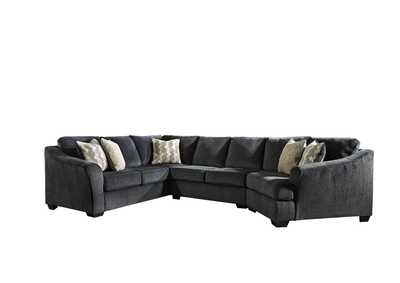 Eltmann Slate 3-Piece Sectional with Cuddler