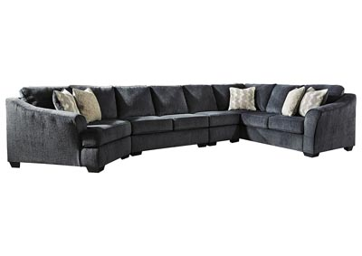 Image for Eltmann Slate 4-Piece Sectional with Cuddler