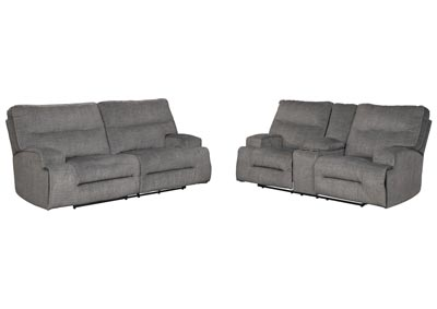 Image for Coombs Charcoal Reclining Sofa and Loveseat