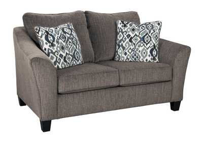 Nemoli Slate Loveseat,Signature Design By Ashley