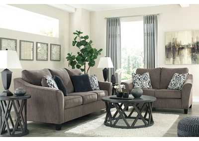 Nemoli Slate Sofa & Loveseat,Signature Design By Ashley