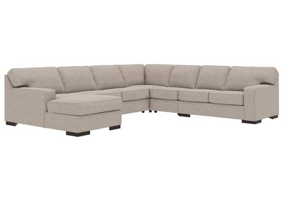 Ashlor Nuvella Slate LAF 5 Piece Chaise Sectional