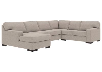 Ashlor Nuvella Slate LAF 4 Piece Chaise Sectional