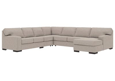 Ashlor Nuvella Slate RAF 5 Piece Chaise Sectional