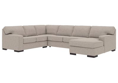 Ashlor Nuvella Slate RAF 4 Piece Chaise Sectional