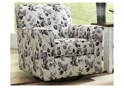 Abney Platinum Swivel Accent Chair,Benchcraft