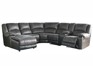 Image for Nantahala Slate LAF Corner Chaise Sectional w/Storage Console