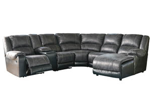Image for Nantahala Slate RAF Corner Chaise Sectional w/Storage Console
