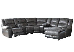 Image for Nantahala Slate RAF Corner Chaise Sectional w/2 Storage Consoles