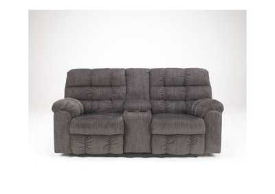 Image for Acieona Slate Double Reclining Loveseat w/ Console