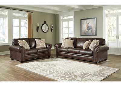 Roleson Walnut Sofa & Loveseat