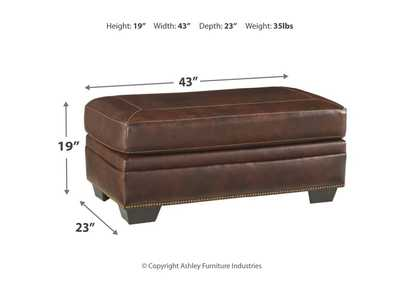Roleson Walnut Ottoman,Signature Design By Ashley