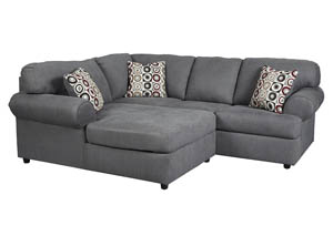 Jayceon Steel LAF Chaise Sectional