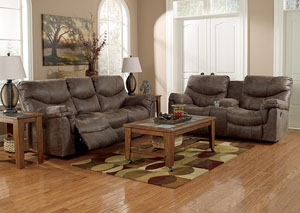 Image for Alzena Gunsmoke Reclining Sofa & Loveseat