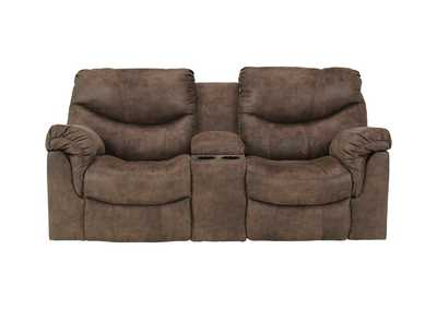 Image for Alzena Gunsmoke Double Reclining Loveseat w/ Console