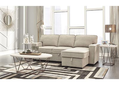 Darton Cream Right-Arm Facing Chaise with Storage,Signature Design By Ashley