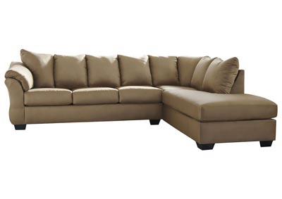 Darcy Mocha RAF Chaise Sectional