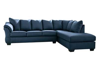Image for Darcy Blue RAF Chaise Sectional
