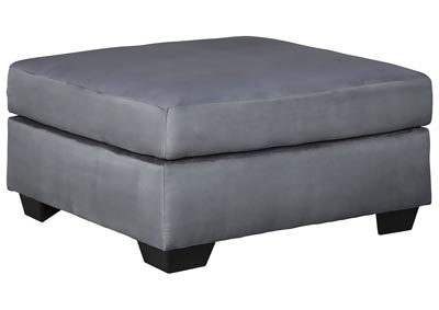 Darcy Steel Oversized Accent Ottoman,Signature Design By Ashley