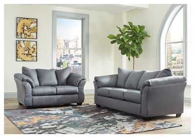 Darcy Steel Sofa & Loveseat