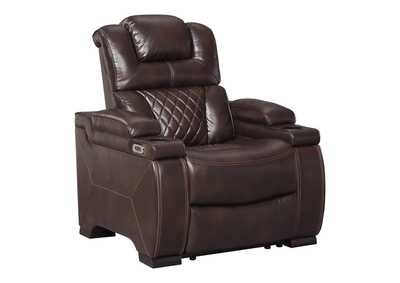 Image for Warnerton Chocolate Power Recliner w/Adjustable Headrest