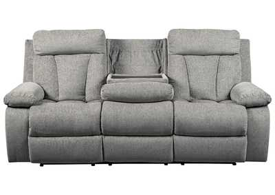 Image for Mitchiner Fog Reclining Sofa w/Drop Down Table