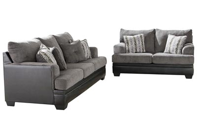 Millingar Smoke Sofa & Loveseat,Signature Design By Ashley