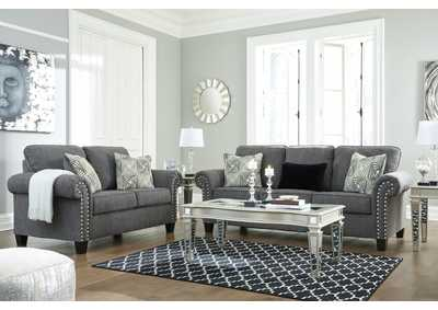 Agleno Charcoal Sofa & Loveseat,Benchcraft