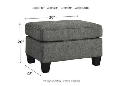 Agleno Charcoal Ottoman,Benchcraft