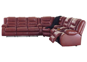 Image for Vacherie Salsa Reclining Sofa Loveseat Sectional