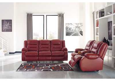 Image for Vacherie Salsa Reclining Sofa and Loveseat w/Console