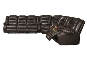 Image for Vacherie Chocolate Reclining Sofa Loveseat Sectional