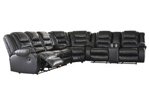 Image for Vacherie Black Reclining Sofa Loveseat Sectional