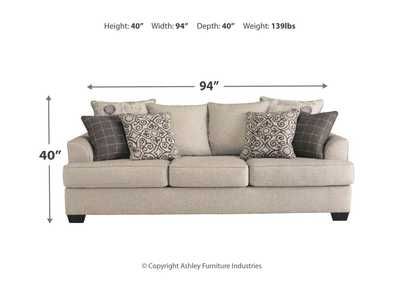 Velletri Pewter Sofa,Signature Design By Ashley