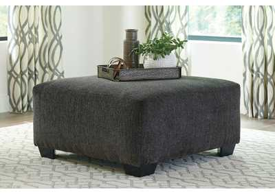 Ballinasloe Smoke Oversized Accent Ottoman,Signature Design By Ashley