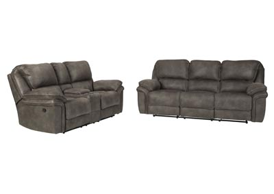 Image for Trementon Graphite Reclining Sofa and Loveseat w/Console