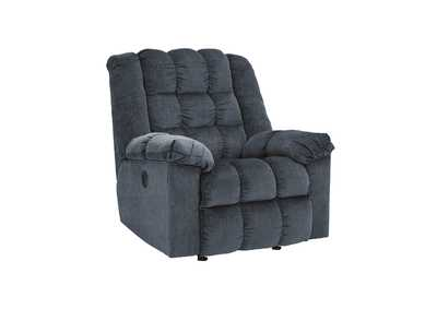 Image for Ludden Blue Power Rocker Recliner
